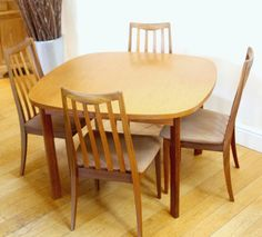 Mid Century G Plan Fresco Teak Dining Set with Extending Table & Six Chairs by WhiteRabbitVintageGB on Etsy https://www.etsy.com/uk/listing/503856514/mid-century-g-plan-fresco-teak-dining