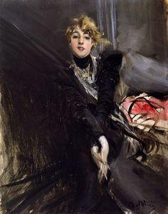 Le Prince Lointain: Giovanni Boldini (1842-1931), L'actrice Jane Renou...