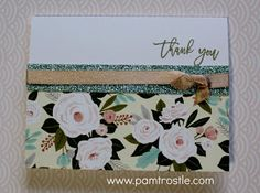 Pam's Crafty Creations: Hello Lovely - Thank You card