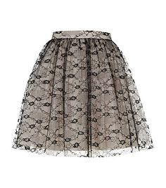 Red Valentino Lace Prom Skirt