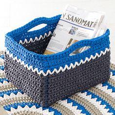 NOTE: Crochet magazine rack - free crochet pdf pattern (finn)