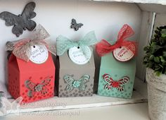 www.lovetostamp.nl - Baker's Box, Butterfly and Bold Butterfly Thinlits.  All Boxed Up and Dotty Angles stamp sets.