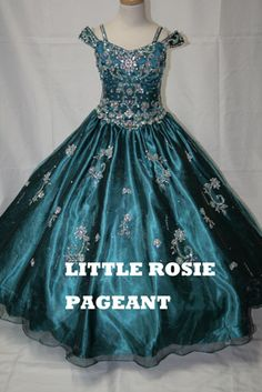 Beautiful pageant gown with cap sleeves and stunning beading. Available in Jade and Flamingo! #girligirlboutique #girligirl #pageant