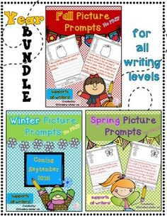 Picture writing prompts naturally differentiate your writing center. Even my most emergent, timid writers shine using them!***By purchasing the yearlong bundle you will save 25%***