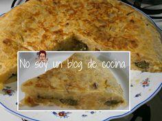 No soy un blog de cocina: TORTILLA DE PATATAS RELLENA DE PIMIENTOS VERDES