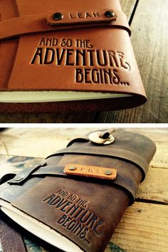 50% OFF...Adventure Begins Saddle Leather Journal...Fire Branded Refillable Leather Journal....SALE TODAY...Made in Portland. by CurtisMatsko on Etsy https://www.etsy.com/listing/258890091/50-offadventure-begins-saddle-leather