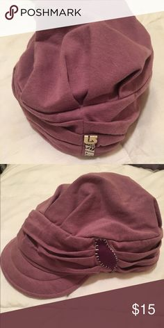 Paper Boy Cap Paper boy style hat. Cotton, size small. Fits well. I have big thick curly hair and can fit this comfortably on my head. Gently worn. Like new. Has a cute purple bird on the cap 💜 Burton Accessories Hats