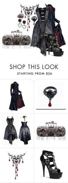 """""""Bleeding heart"""" by found-herself-in-wonderland-13 ❤ liked on Polyvore featuring J. Peterman and Alexander McQueen"""