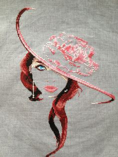 Jasmine by John Clayton. Cross stitch design. The red/brown color choice for her hair is amazing!
