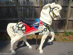 "Nice Full Size Carousel Horse 61"" High 59"" Long 13"" Wide Polymer Heavy Plastic | eBay"