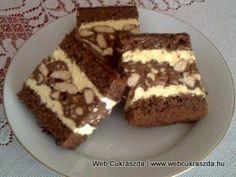 Gesztenyés szelet Austrian Recipes, Croatian Recipes, Hungarian Recipes, Austrian Food, Sweet Cookies, Cake Cookies, Cute Desserts, Delicious Desserts, Cake Recipes