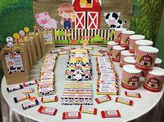 Farm Animal Birthday, Farm Birthday, 3rd Birthday Parties, Animal Cracker Favors, Farm Party Decorations, Barnyard Party, Farm Theme, 1st Birthdays, Birthday Banners