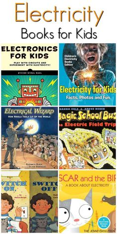 Fun Electricity Books for Kids (+ Study Unit Ideas) Electricity Books for Kids + Additional Educational Activities About Electricity Science Books, Teaching Science, Science For Kids, Science Activities, Educational Activities, Steam Activities, Educational Websites, Science Ideas, Science Nature