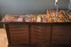The final bottle cap count is just over 2600 and there is 1223 different caps
