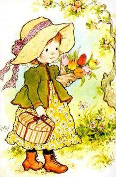 illustration сара кей, д Sarah Key, Creation Art, Hobby Horse, Holly Hobbie, Australian Artists, Illustrations, Cute Illustration, Vintage Cards, Vintage Children