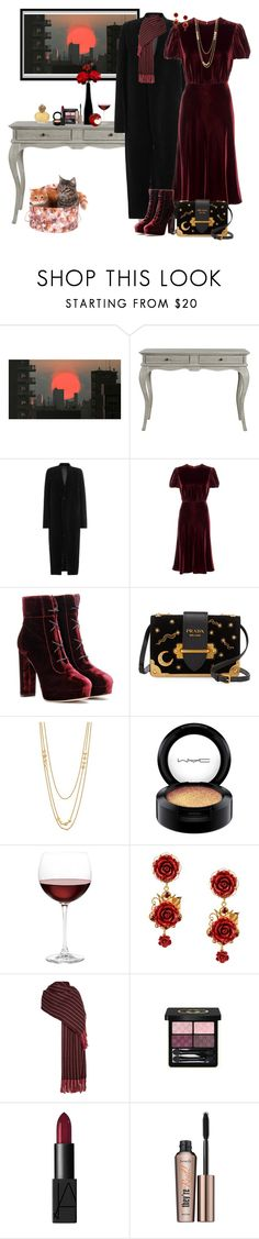 """Nights on Broadway"" by winscotthk ❤ liked on Polyvore featuring Dot & Bo, Rick Owens, Valentino, Jimmy Choo, Prada, Gorjana, MAC Cosmetics, Nordstrom, Dolce&Gabbana and Isabel Marant"
