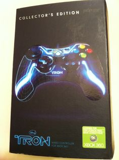 Blue Xbox 360 Wired USB Tron Controller Collector's Edition USB Disney picclick.com
