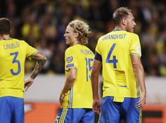 Anderas Granqvist of Sweden has his jersey torn during the FIFA World Cup Qualifier between Sweden and Netherlands at Friends arena on September 6, 2016 in Solna, Sweden.
