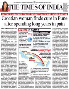 Another feather in the hat!! Our patient from Croatia treated successfully by @drashwinporwal after having repeated unsuccessful treatments in the last couple of years. She was treated for Complex Fistula using a technique called DLPL which is his own innovation #happypatient#healinghandsclinic #fistula #proctologist #curingwithcare Ashwin Porwal