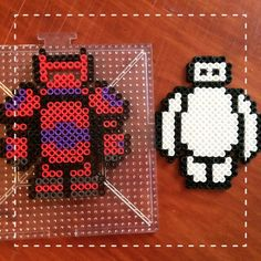 Baymax with removable armor - Big Hero 6 perler beads by Disney's Real Princess