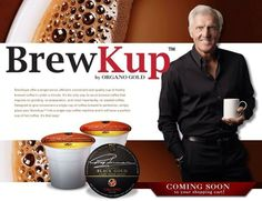 Greg Norman is BrewKup by Organo Gold. BrewKups offer a single serve, convenient and quality cup of freshly brewed coffee. Gold News, Brew Your Own, Coffee Logo, Coffee Design, Coffee Recipes, Coffee Cups, Coffee Talk, Catering, Brewing