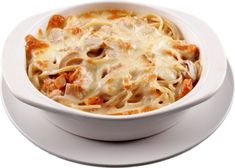 Paste cu carne de pui in sos alb - YVE. White Sauce Pasta, White Pasta, Oven Chicken, Baked Spaghetti, Creamy White, Oven Baked, Pasta Recipes, Macaroni And Cheese, Stuffed Mushrooms