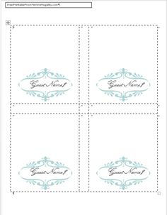 I don't know why I thought finding a free template for place cards for the wedding would be a good idea.  You'd think I'd have learned after the DIY invitation fiasco.  But I didn't.  I spent way too much time online trying to find a decent template in the right colors that looked fancy enough …
