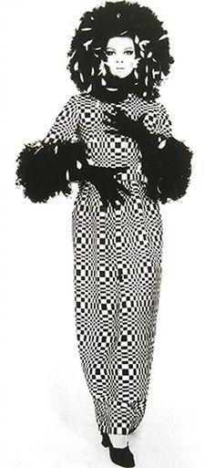Op Art Dress by Geoffrey Beene