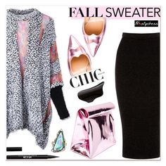 """""""fall sweater"""" by paculi ❤ liked on Polyvore featuring Warehouse, Yesimfrench, Gianvito Rossi, Lynn Ban, Stila and nastydress"""