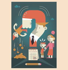 Illustrations for Il Sole 24 Ore, the biggest italian financial newspaper. 2014.
