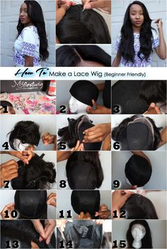 How To make a Lace Front Wig: 1.Gather Materials 2.Place dome cap on styrofoam head 3.Sew on left side of the frontal 4.Sew on right side of the frontal 5.Start sewing the back side of the frontal  6.Stop sewing 1/3 of the way 7.Sew the opposite side 8.Finish attaching frontal 9.Turn cap inside out 10.Measure a track  11.Sew down the track 12.Flip cap again and sew from ear to ear 13.Sew until you reach the top  14.Cut the cap under the lace 15.Finished! #LaceFront #LaceFrontal #Wig