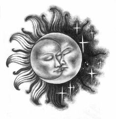 I think I might have found my sun/moon tattoo Moon Sun Tattoo, Sun Tattoos, Body Art Tattoos, Tatoos, Tattoo Ink, Sun Moon Stars, Sun And Stars, Sun And Moon Drawings, Tattoo Sonne