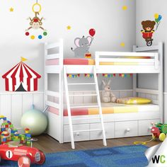 Adding some colourful entertainment in a child's bedroom with this circus decal! Available from $71.50