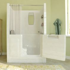 Luxurious Walk In Bathtub In The Home- Comfortable and Safety Walk in Tubs for your Bathroom - Walk In Tub Shower, Bathtub Shower Combo, Walk In Tubs, Walk In Bathtub, Home Depot, Handicap Bathroom, Bathroom Tubs, Bathroom Images, Bathroom Mirrors