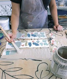 Clay Monoprinting: A Great Way to Get Hand Drawn Imagery on Pots - Ceramic Arts Network