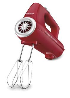The Cuisinart PowerSelect 3-Speed Hand Mixer offers 220 Watts of power and enough speed settings to mix just about anything that needs mixing.  - http://kitchen-dining.bestselleroutlet.net/product-review-for-cuisinart-chm-3r-electronic-hand-mixer-3-speed-red/