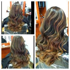 Bayalage highlights with lighter blonde ombre too | Yelp
