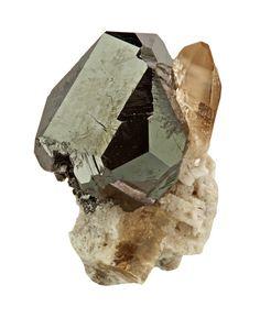 Bixbyite, (Mn+++,Fe+++)2O3, with Topaz