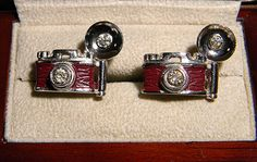 RARE Original Vintage SWANK Forties Flash Camera Cufflinks