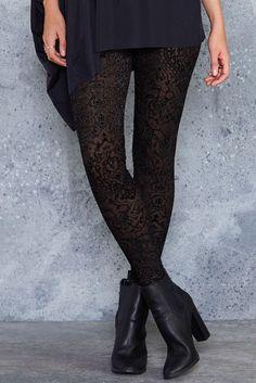 Burned Velvet Ornate Leggings - LIMITED ($80AUD) by BlackMilk Clothing