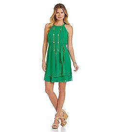 Jessica Simpson Laser Cut Chiffon Dress #Dillards