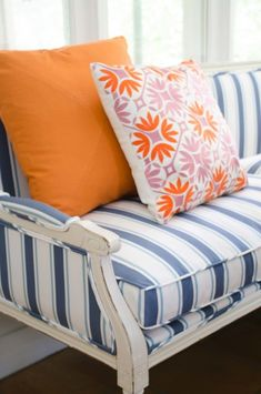Fun, bright furniture: http://www.stylemepretty.com/living/2015/07/06/a-modern-pool-house-makeover/ | Photography: Kevin O'Gara - http://www.thouswell.co/