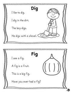 Word Family Short i Fluency Phonics Reading, Teaching Phonics, Reading Worksheets, Kids Reading, Teaching Reading, Guided Reading, Kindergarten Learning, Preschool Learning Activities, Free Preschool