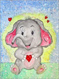 siegfried2838 - Elefant Emil Kinderzimmer Tiere Kinder