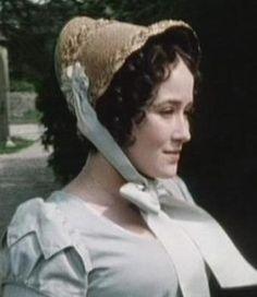 Regency Straw Bonnet. Jane Austen. Elizabeth Bennet. Blue Ribbons.