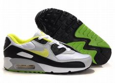 new arrivals 775fd 79f8c Nike Air Max 90 White Grey Black Apple Green