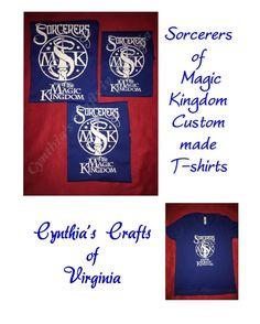 Family T-shirt set of Sorcerers of Magic Kingdom  #sorcerer #sorcerermickey #sorcerersofthemagickingdom #magickingdom #disney #custommade #personalized #cynthiascraftsinvirginia