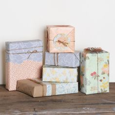 I am always looking for different wrapping papers and I found these and thought that they would be perfect for summer!! Only downfall is they're coming from Australia..
