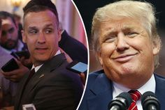 ARRESTED: Corey Lewandowski, left, Donald Trump's campaign manager, has been arrested