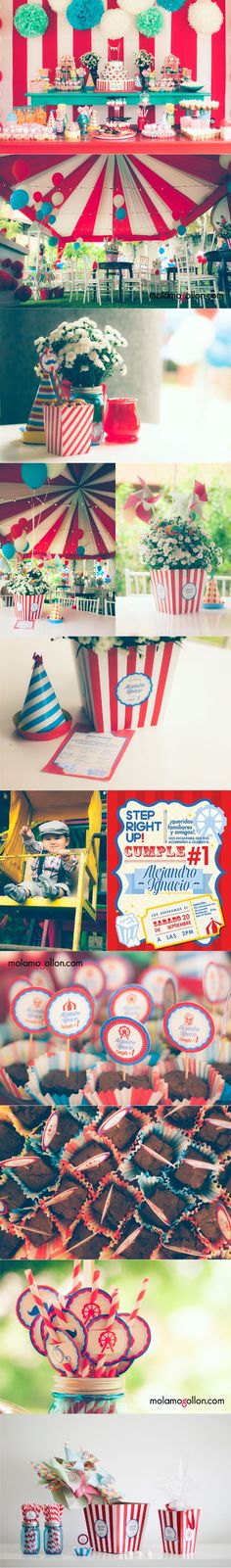 Vintage Carnival Party First Birthday